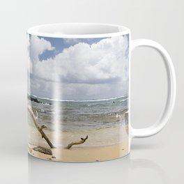 Driftwood on Beach Coffee Mug