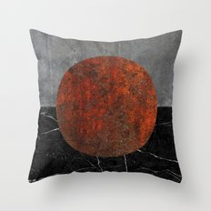 Abstract - Marble, Concrete, and Rusted Iron II Throw Pillow