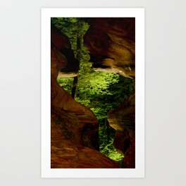Cave-out Kiss Art Print