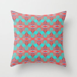 Deco Cowrie (Red) Throw Pillow