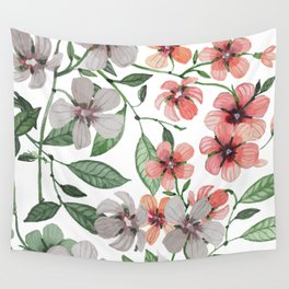FLOWERS WATERCOLOR 12 Wall Tapestry