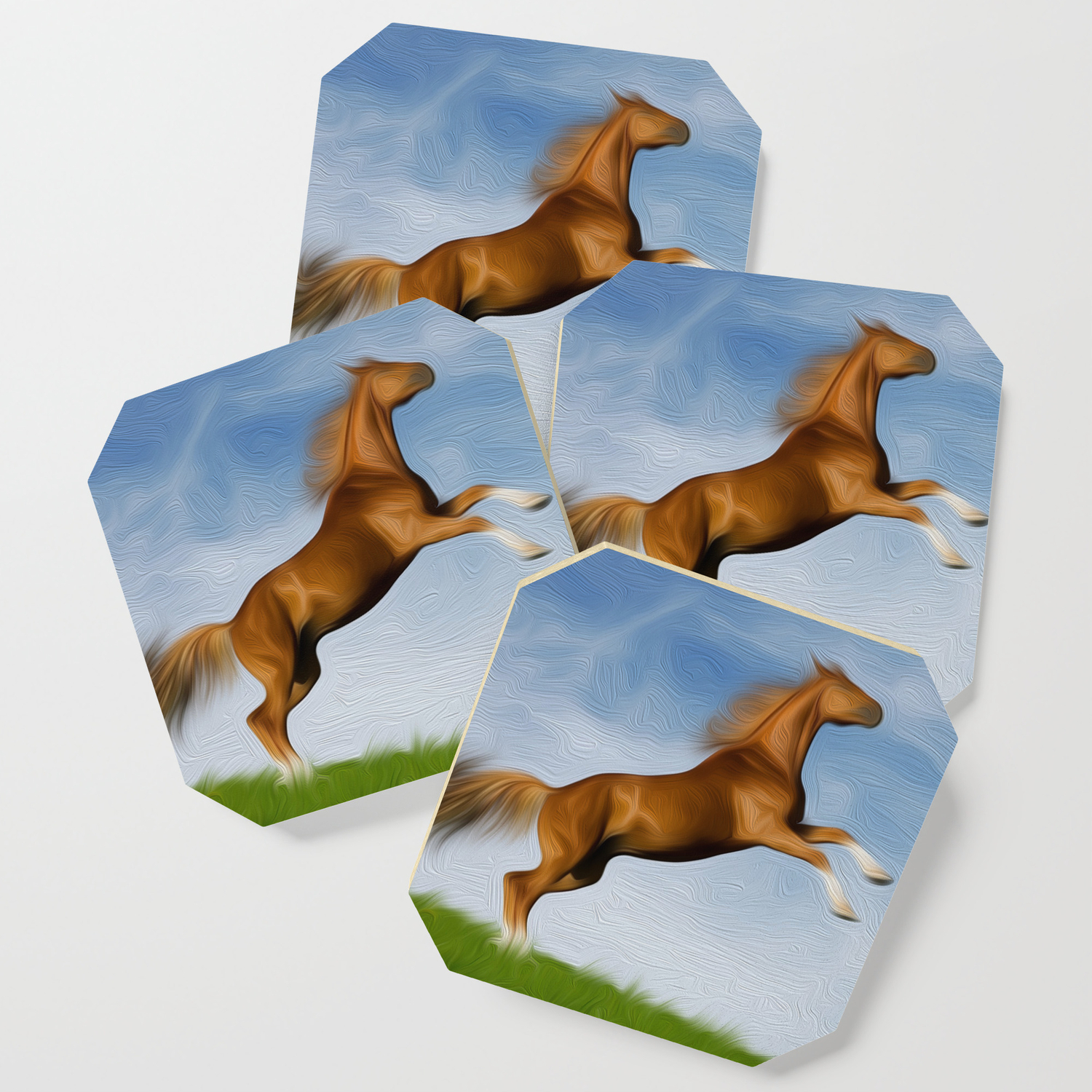 Jumping Wild Horse Coaster By Flordarosa Society6