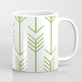 Green Arrows on White Coffee Mug