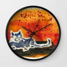 Kitty Love Wall Clock