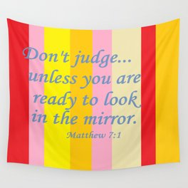Don't Judge! Wall Tapestry