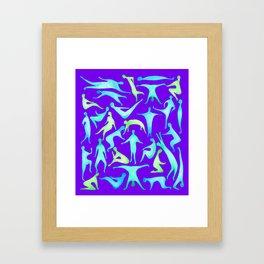 People on Purple Framed Art Print