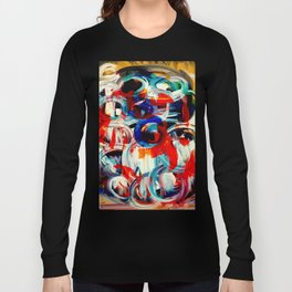 Abstract Action American Painting Long Sleeve T-shirt