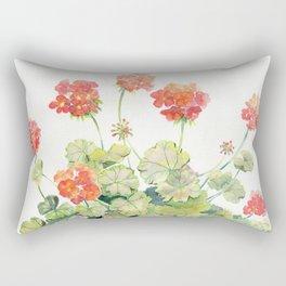 Geranium Watercolor  Rectangular Pillow