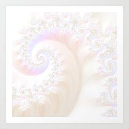Ocean Treasure -- Mother of Pearls Mandelbrot Art Print