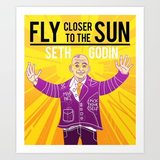 Fly closer to the sun Art Print
