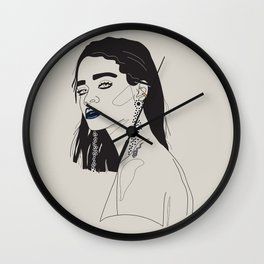 Rihanna blue Wall Clock