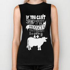 Would you EAT it if you had to KILL it? Biker Tank