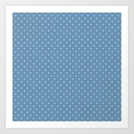 Sky blue background with polka dots Art Print