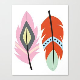 tribal feathers 2 Canvas Print