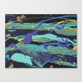 Gold Splatter Canvas Print