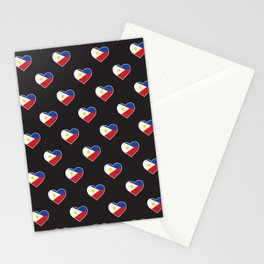 Philippines Love flagMotif Repeat Pattern design background  Stationery Cards