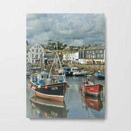 Mevagissey Harbour Cornwall Metal Print
