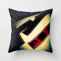 film Throw Pillows featuring Film by wendygray