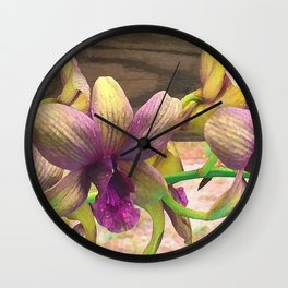 The orchids are blooming. Wall Clock