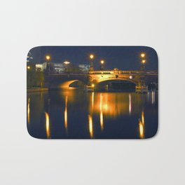 BERLIN NIGHT on the RIVER SPREE Bath Mat