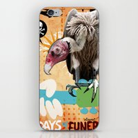 woodstock iPhone & iPod Skins featuring COLLAGE: Woodstock Funeral by Diavu'