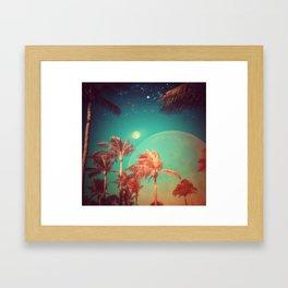 Moon Over Miami Framed Art Print