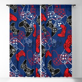 Video Games Red White & Blue Blackout Curtain