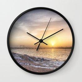 Soft colours under a weak sun Wall Clock