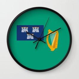 Flag of Dublin Wall Clock