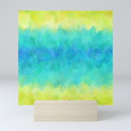 Sunflower and Ice Abstract Mini Art Print