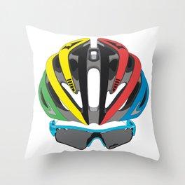 Cycling Face Throw Pillow
