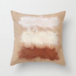 Rothko Inspired Spiced Berry Canyon Dusk Color Field Modern Artist Corbin Henry Art Throw Pillow