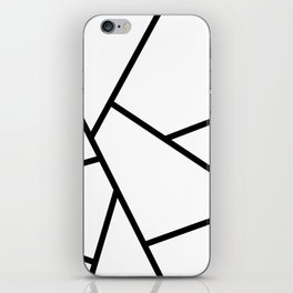 Black and White Fragments - Geometric Design I iPhone Skin