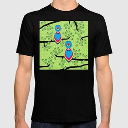 Tropical birds on trees T-shirt