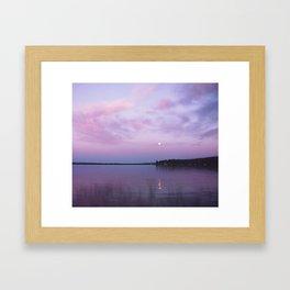 Full Moon Over The Crooked Lake Framed Art Print