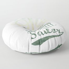 """""""A smooth sea never made a skillful sailor"""" motivation quote. Floor Pillow"""