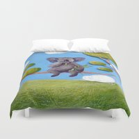 koala Duvet Covers featuring Koala by FleurClaireux