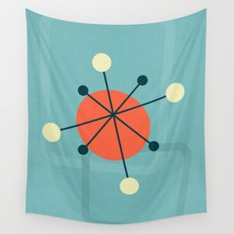 Mid century atomic design Wall Tapestry