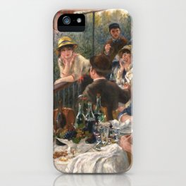 Luncheon of the Boating Party Painting, Pierre-Auguste Renoir iPhone Case