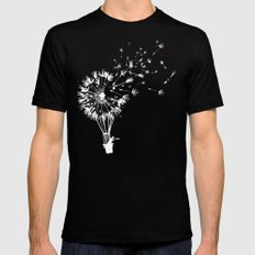 Going where the wind blows Mens Fitted Tee MEDIUM Black