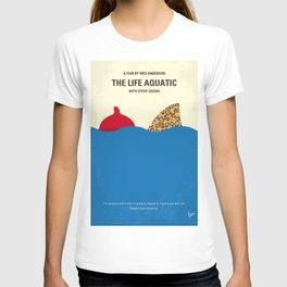 No774 My The Life Aquatic with Steve Zissou minimal movie poster T-shirt