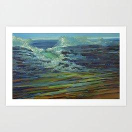Sandy Rocks Splash Art Print