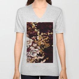 Tropical Blaze Floral Print Unisex V-Neck