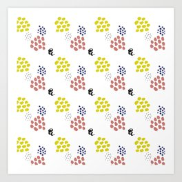 Dots and Splashes Art Print