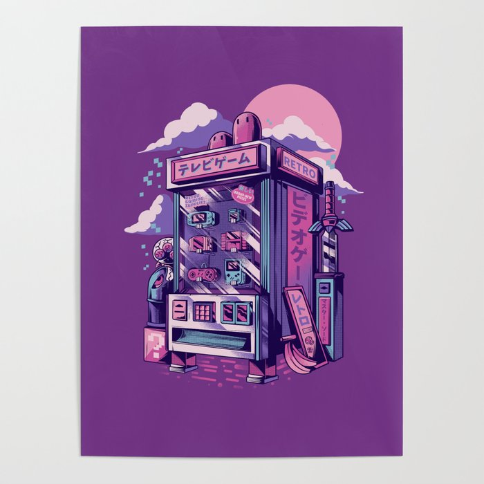 Retro gaming machine Poster