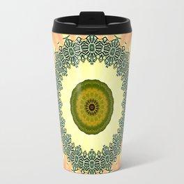 Kiwi and Peaches Mandala Travel Mug