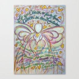 Espanol Ángel Cáncer - Spanish Cancer Poem Angel Art Canvas Print