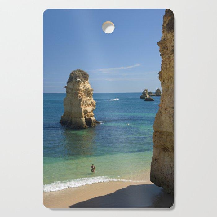 Rock on the beach, the Algarve coast, Portugal Cutting Board
