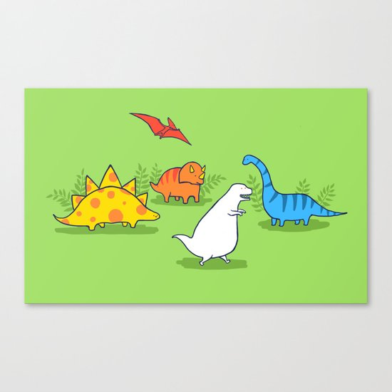 Albinosaur Canvas Print