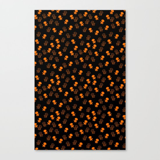 Aliens-Orange Canvas Print